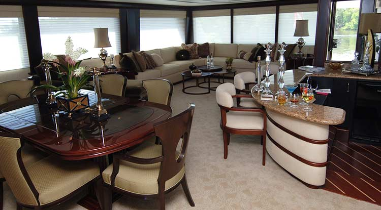 Yacht Carpet Installation